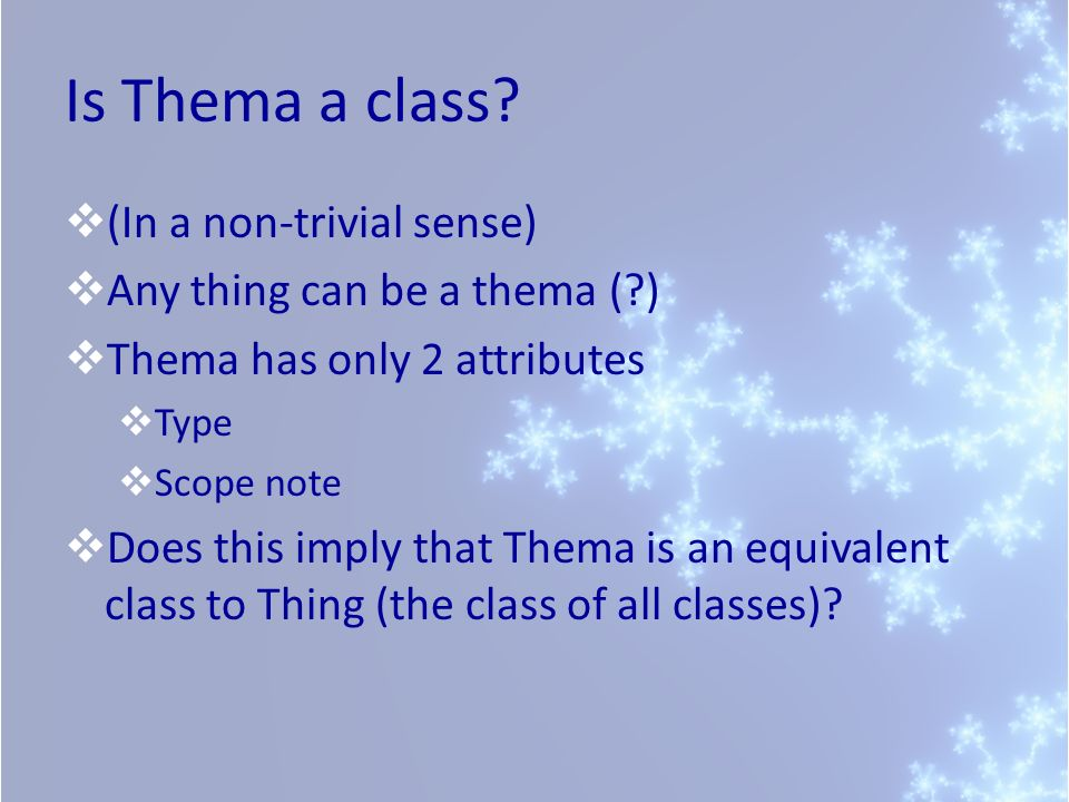 Is Thema a class.