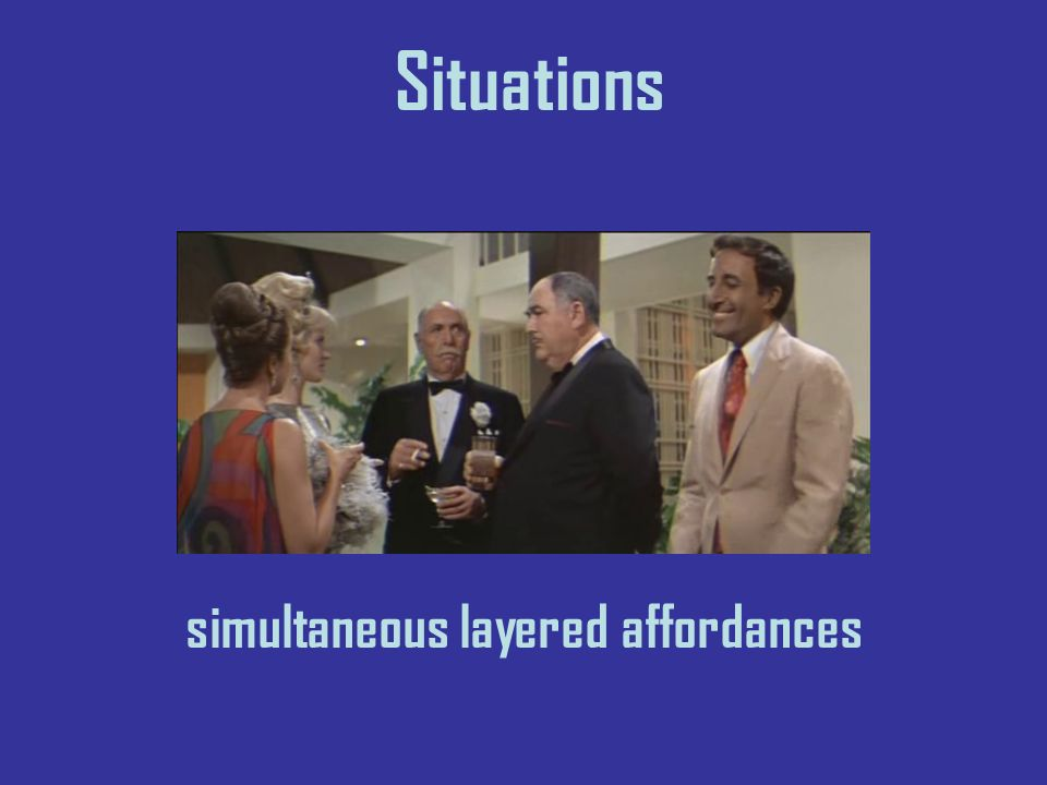 Situations simultaneous layered affordances