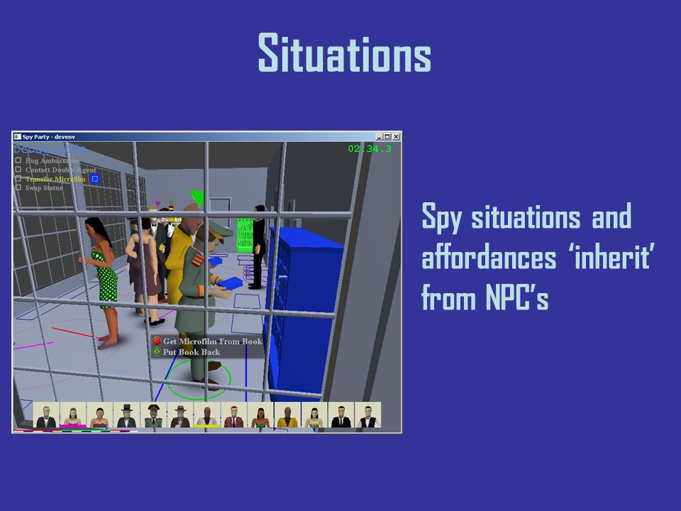 Situations Spy situations and affordances inherit from NPCs