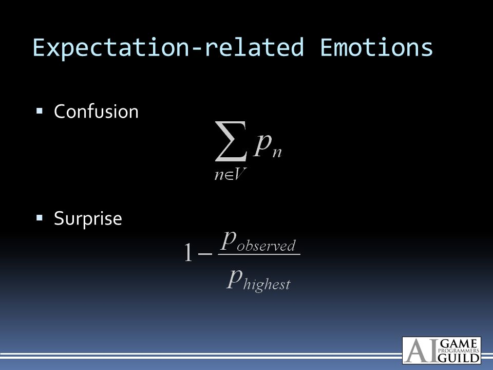Expectation-related Emotions Confusion Surprise