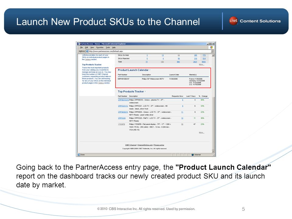 new product launch report