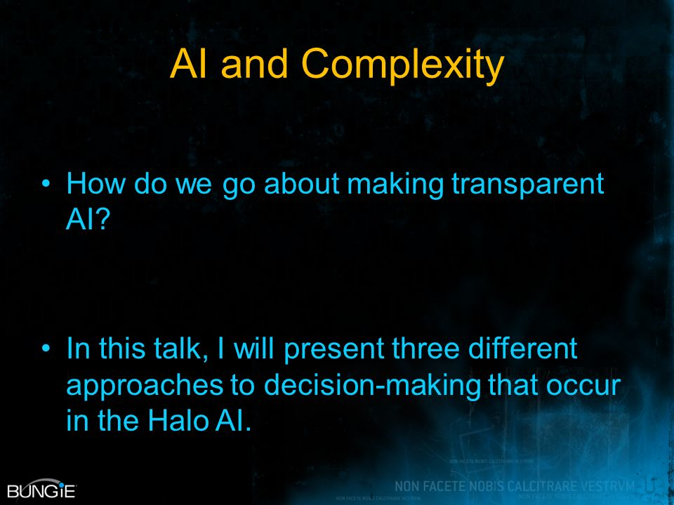 AI and Complexity How do we go about making transparent AI.