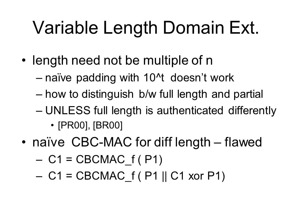 Variable Length Domain Ext.