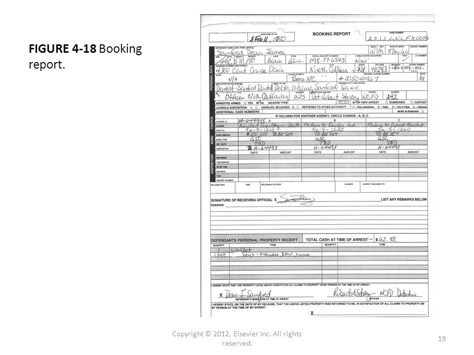 FIGURE 4-18 Booking report. Copyright © 2012, Elsevier Inc. All rights reserved. 19