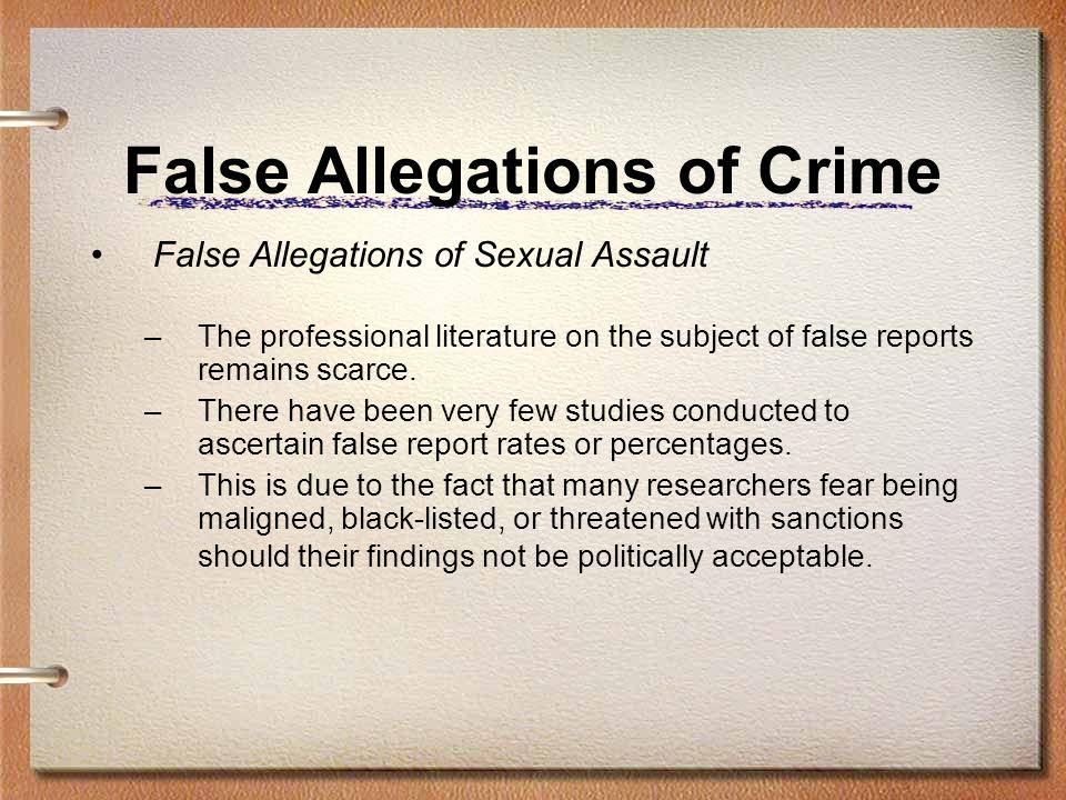 Criminal charges for false accusations of sexual harassment