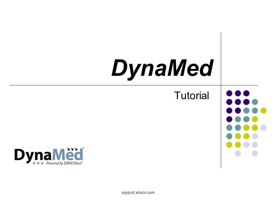 support.ebsco.com DynaMed Tutorial