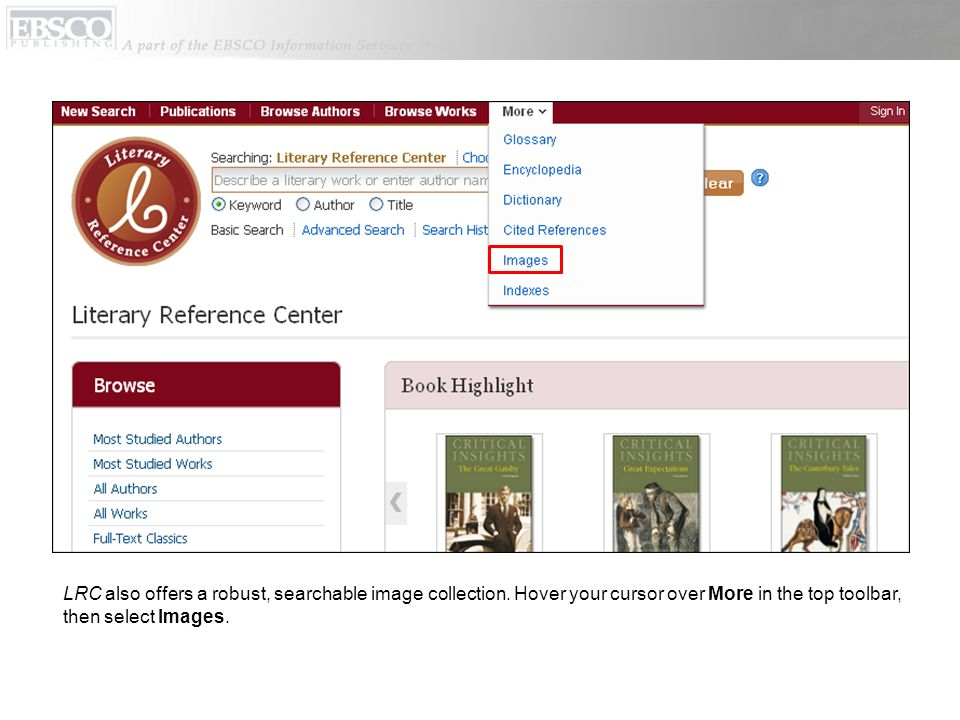LRC also offers a robust, searchable image collection.