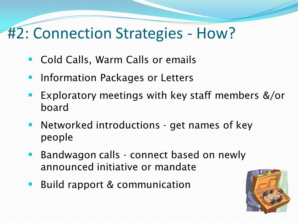 #2: Connection Strategies - How.