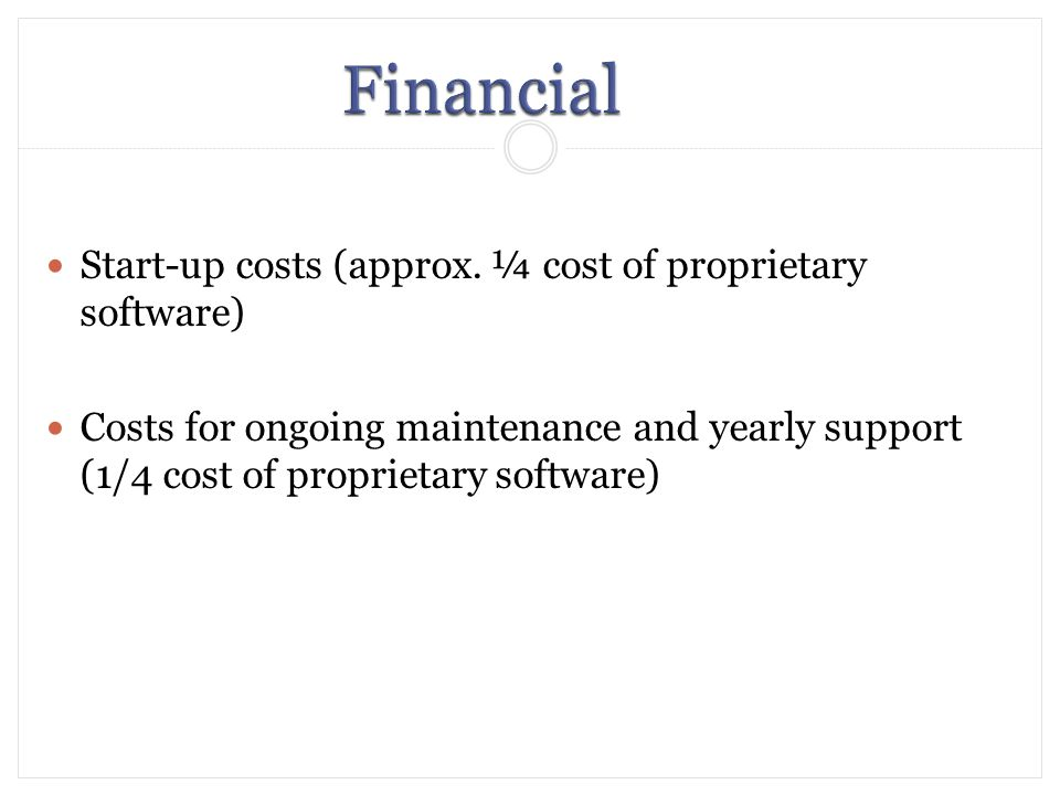 Start-up costs (approx.