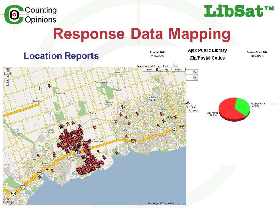 Response Data Mapping Location Reports