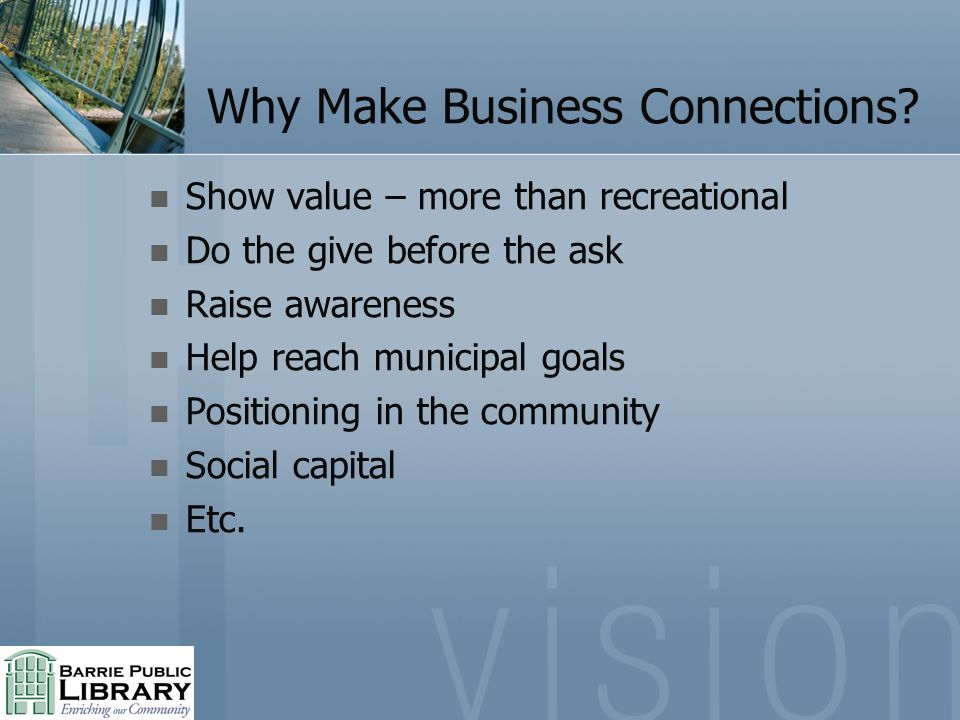 Why Make Business Connections.