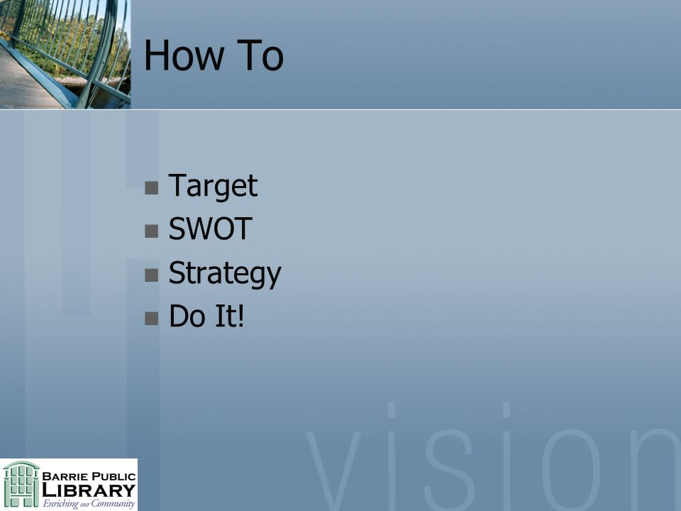 How To Target SWOT Strategy Do It!