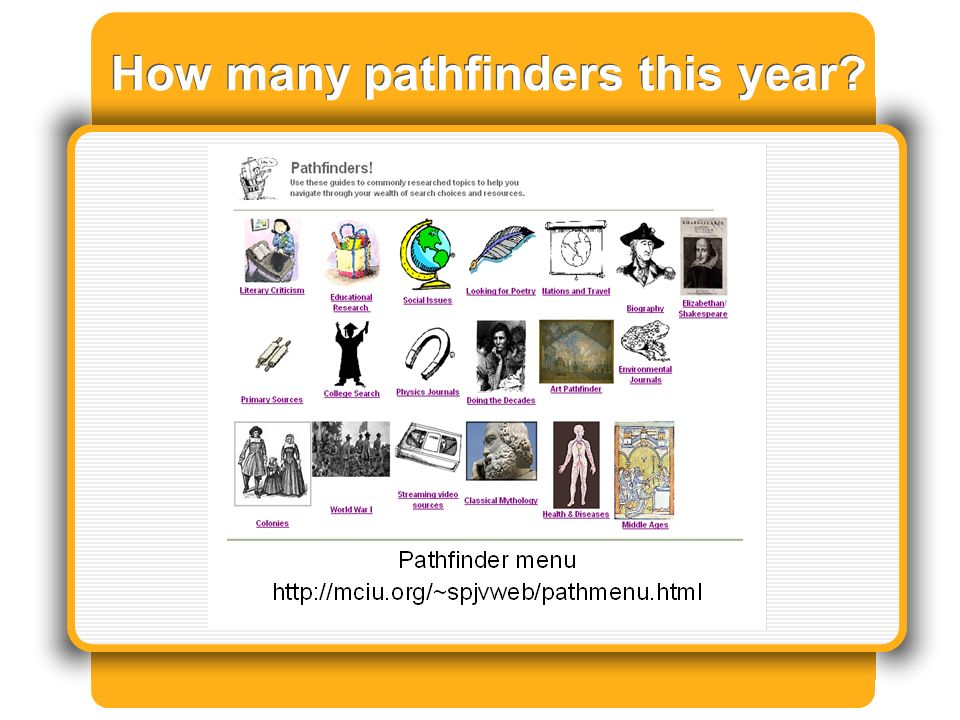 How many pathfinders this year