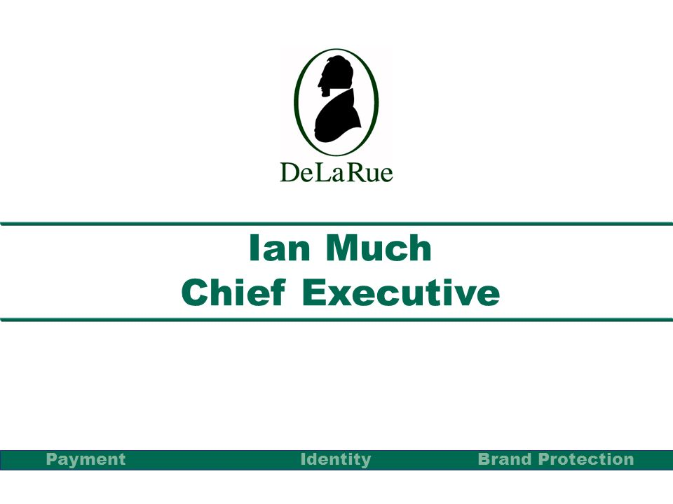 Ian Much Chief Executive PaymentBrand Protection Identity