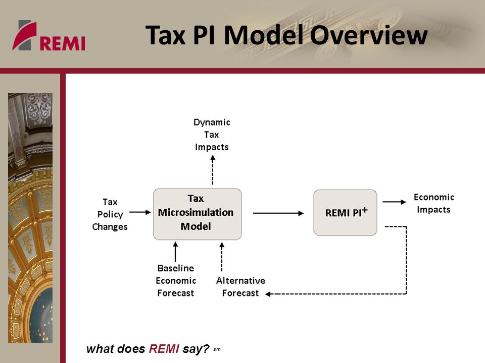 what does REMI say sm Tax PI Model Overview