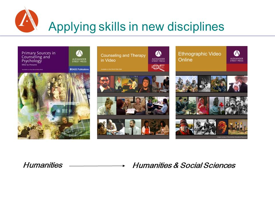 Applying skills in new disciplines Humanities Humanities & Social Sciences