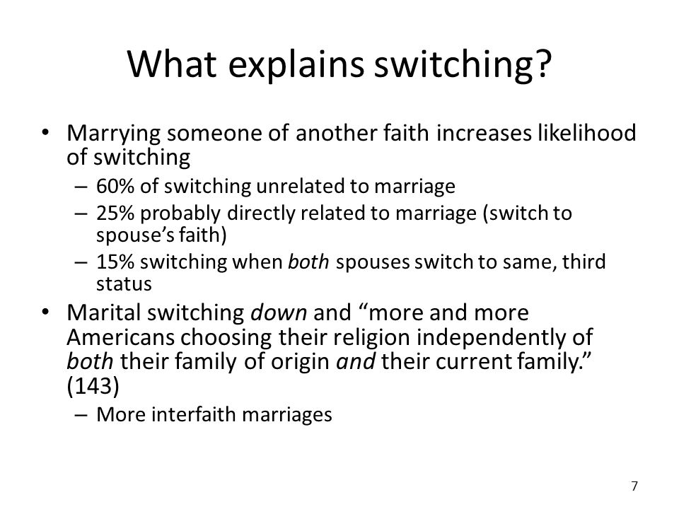 What explains switching.