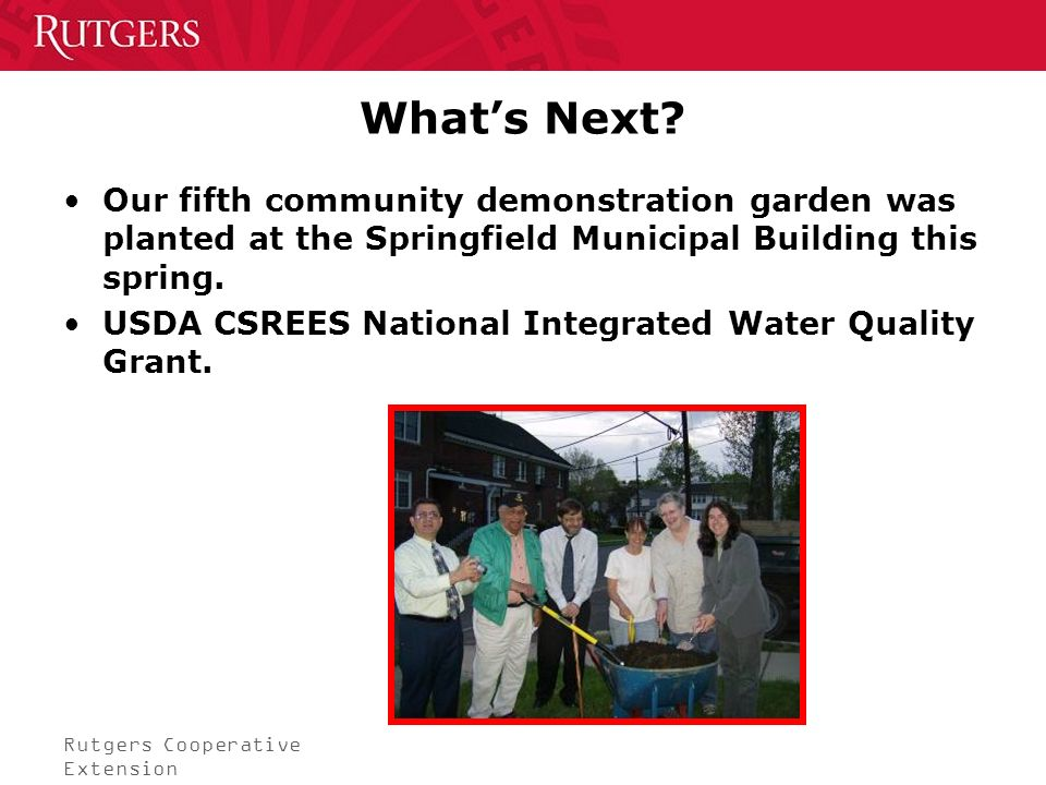 Rutgers Cooperative Extension Whats Next.