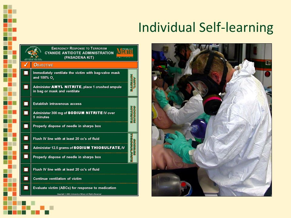 Individual Self-learning