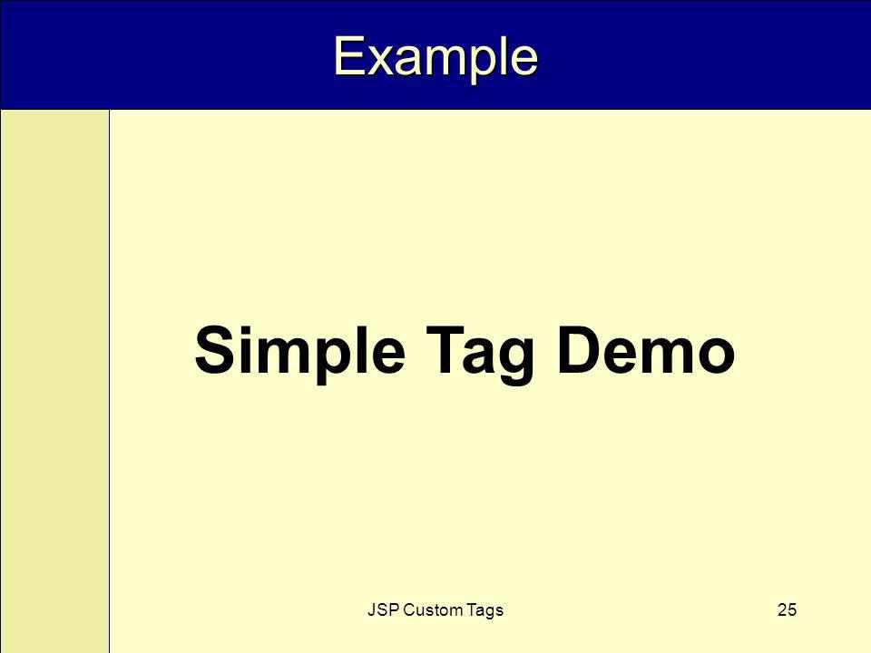 JSP Custom Tags25 Example Simple Tag Demo