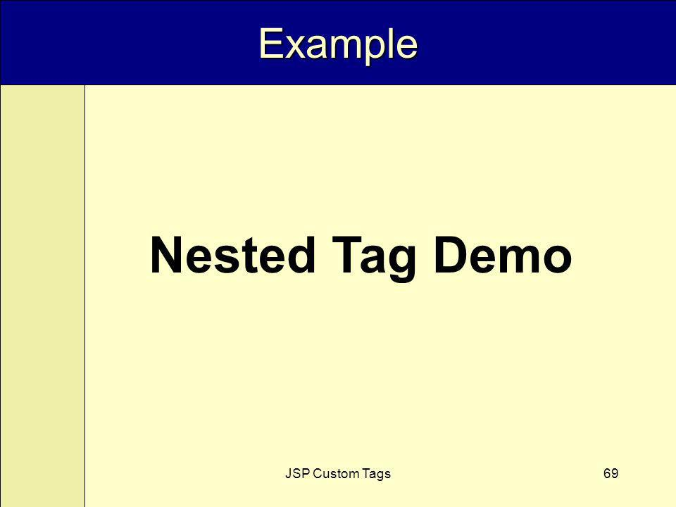 JSP Custom Tags69 Example Nested Tag Demo
