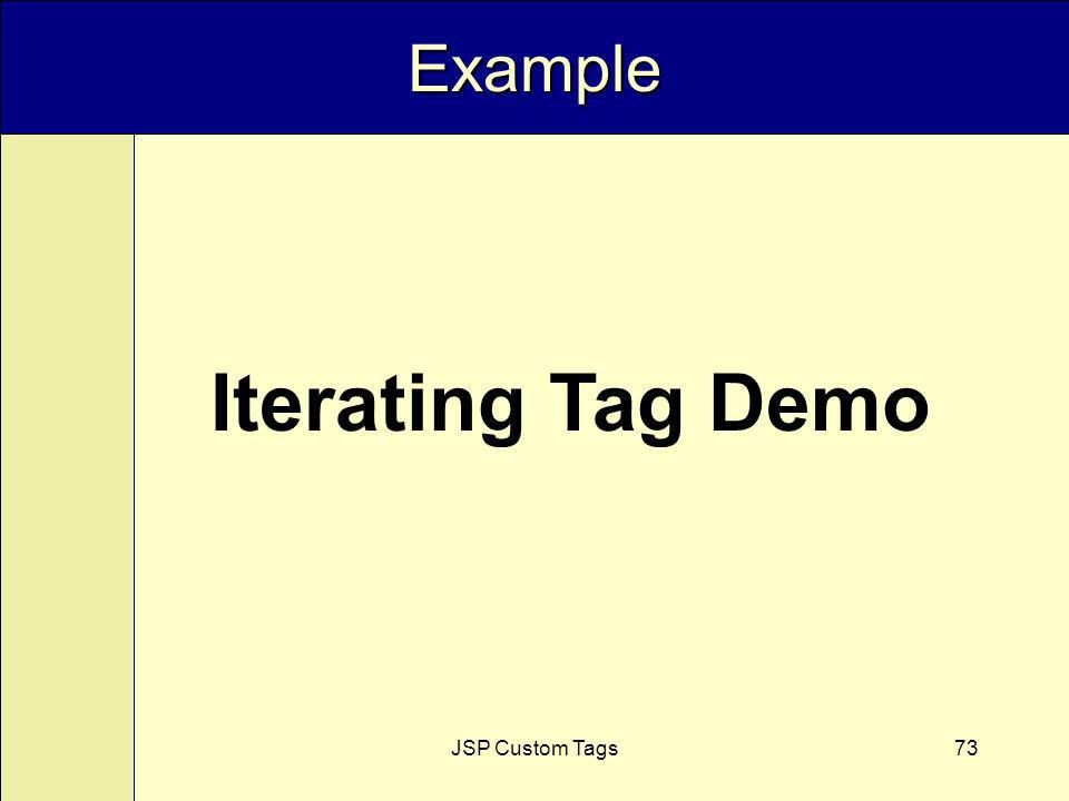 JSP Custom Tags73 Example Iterating Tag Demo
