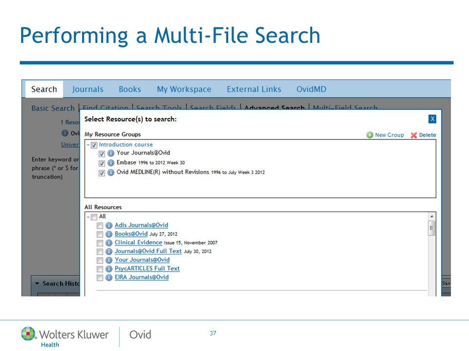 37 Performing a Multi-File Search