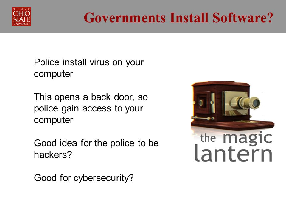 Governments Install Software.