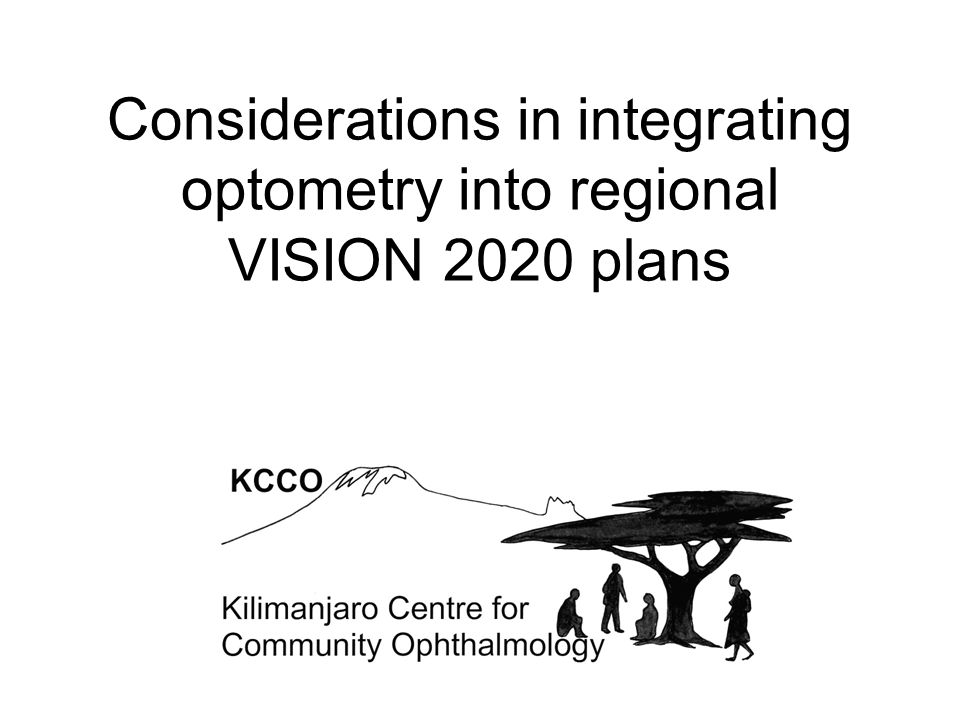 Considerations in integrating optometry into regional VISION 2020 plans
