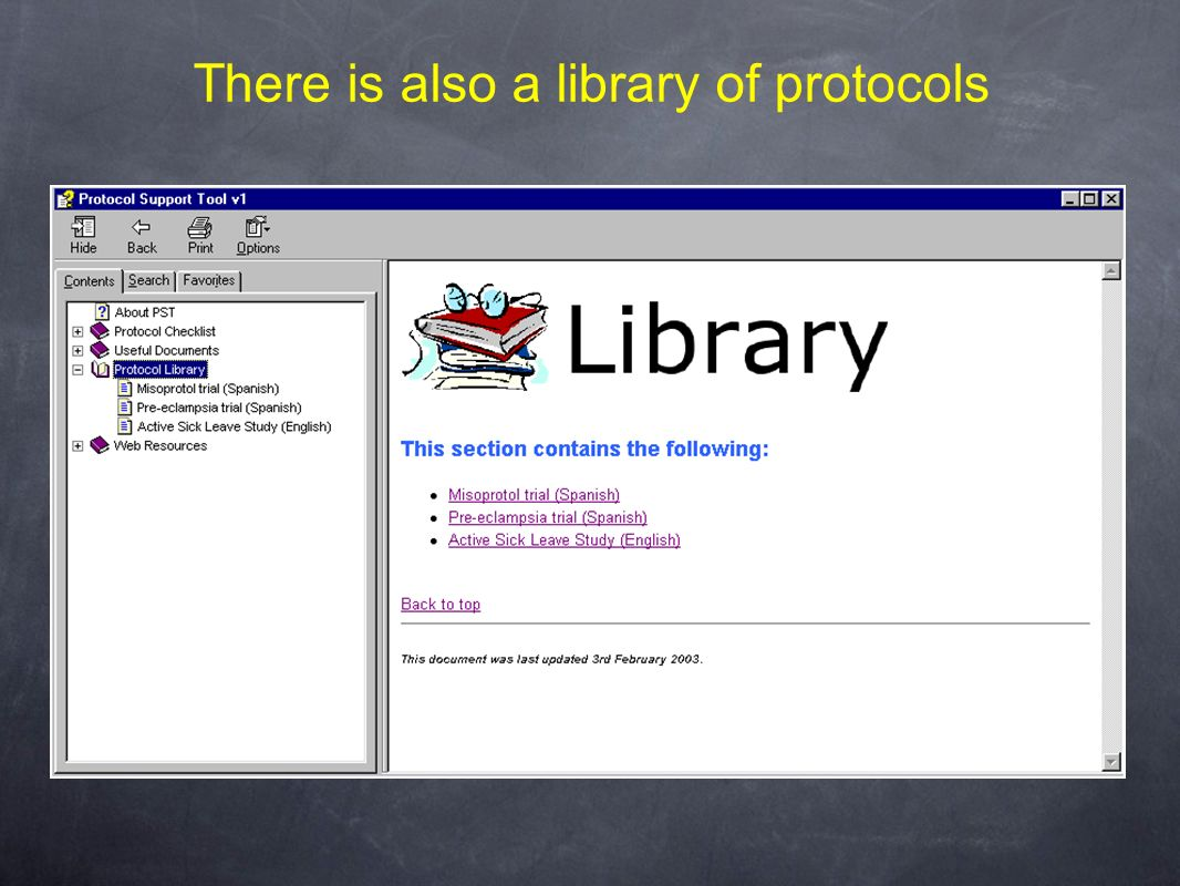 There is also a library of protocols