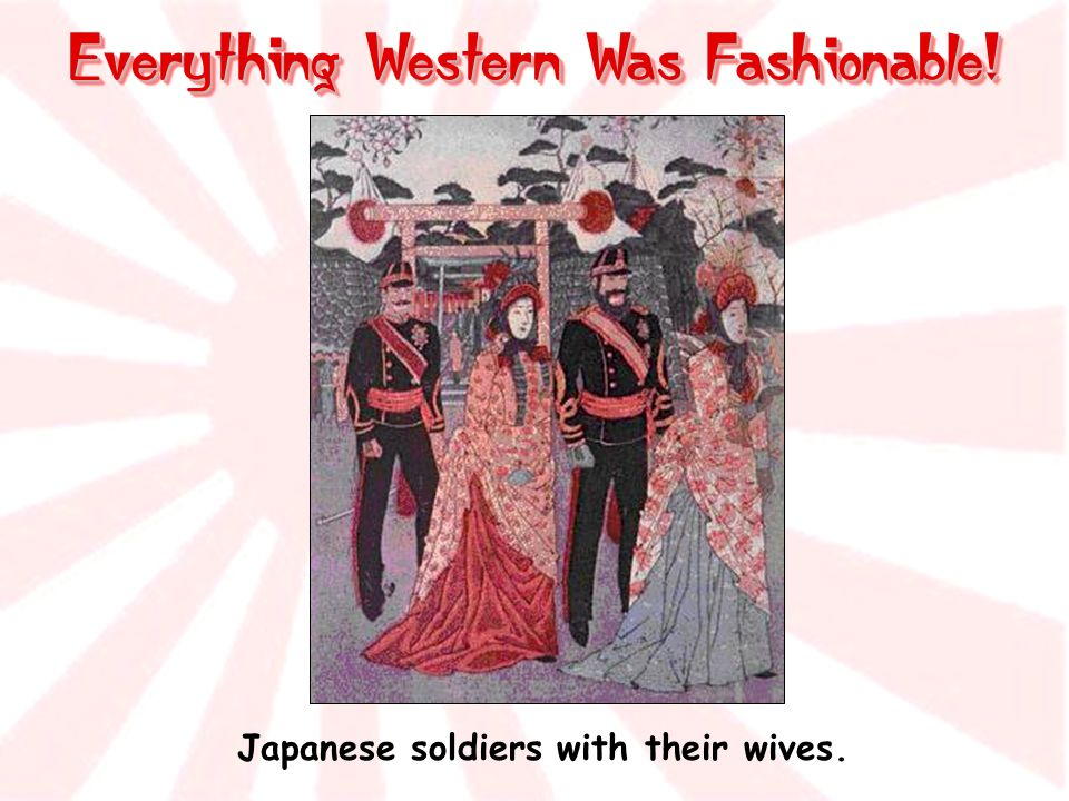 Japanese soldiers with their wives.