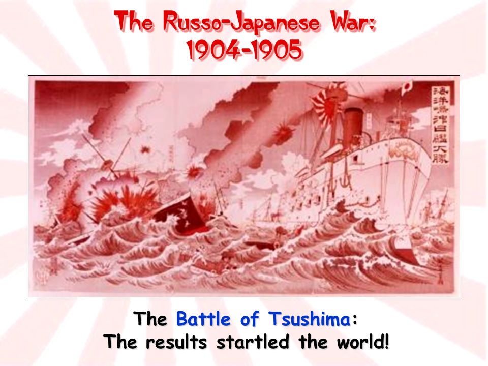 The Russo-Japanese War: 1904-1905 The Battle of Tsushima: The results startled the world!
