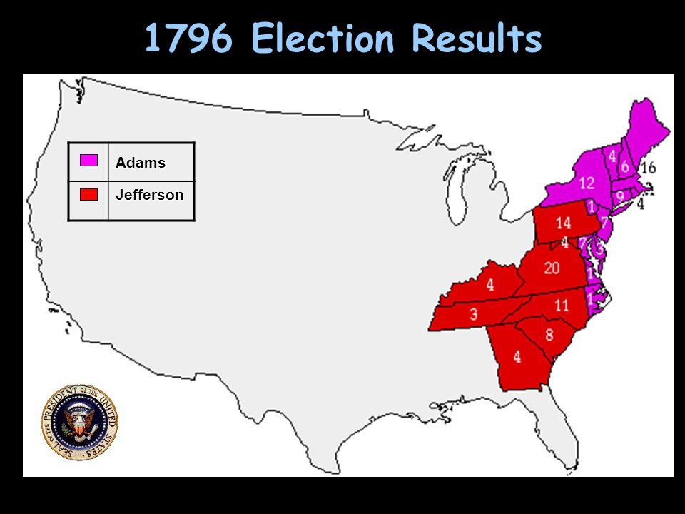 1796 Election Results AdamsJefferson