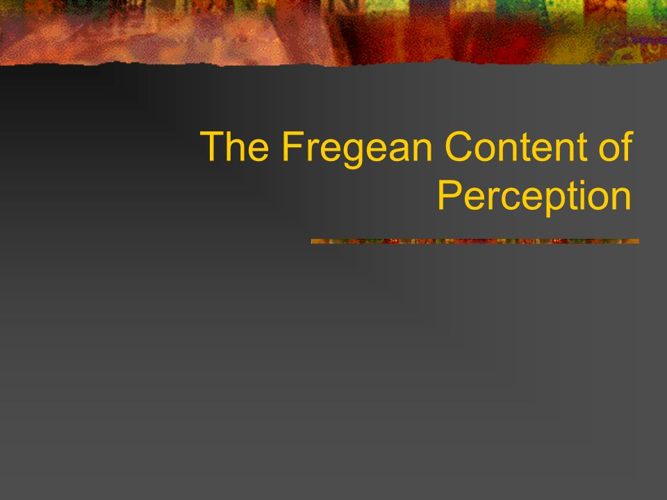 The Fregean Content of Perception