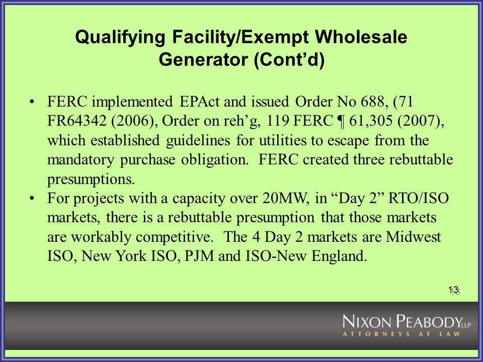 exempt wholesale generator status