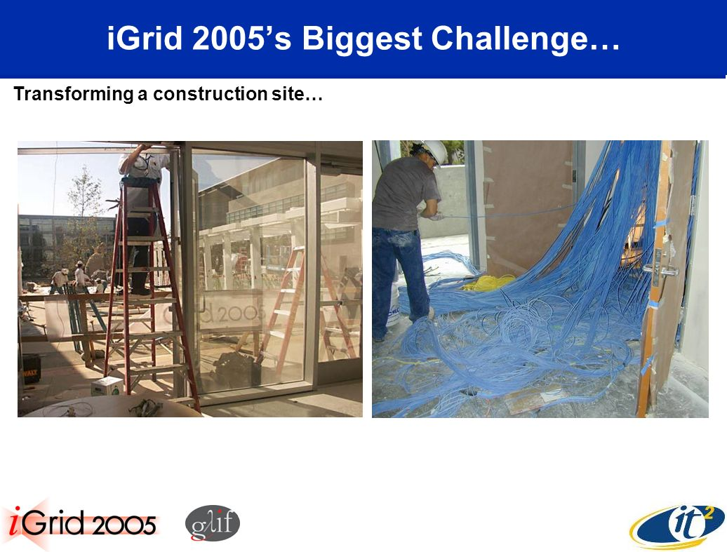 iGrid 2005s Biggest Challenge… Transforming a construction site…