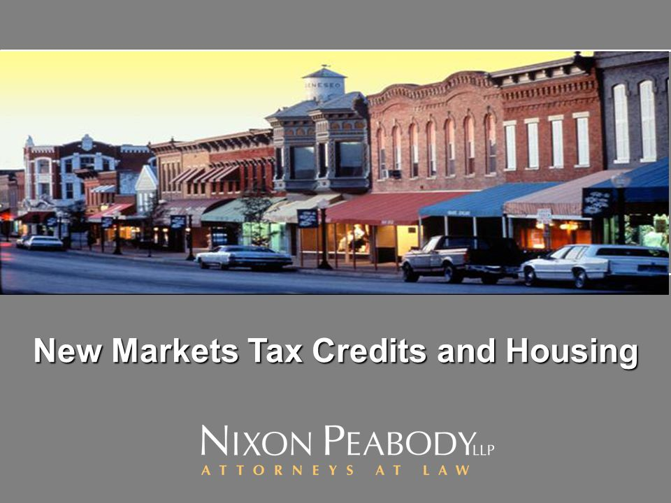 New Markets Tax Credits and Housing