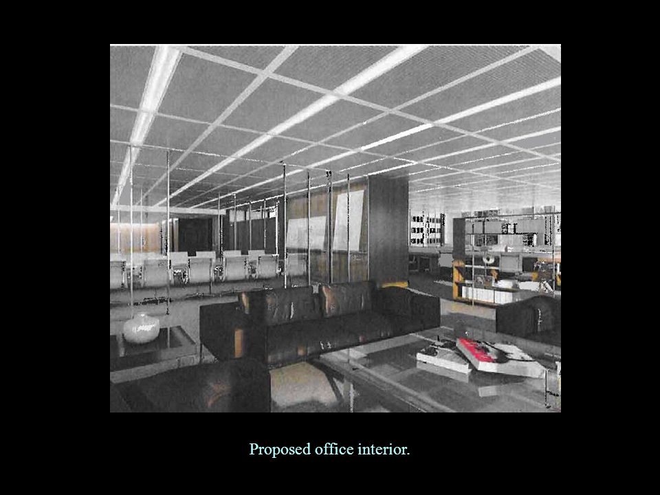 Proposed office interior.