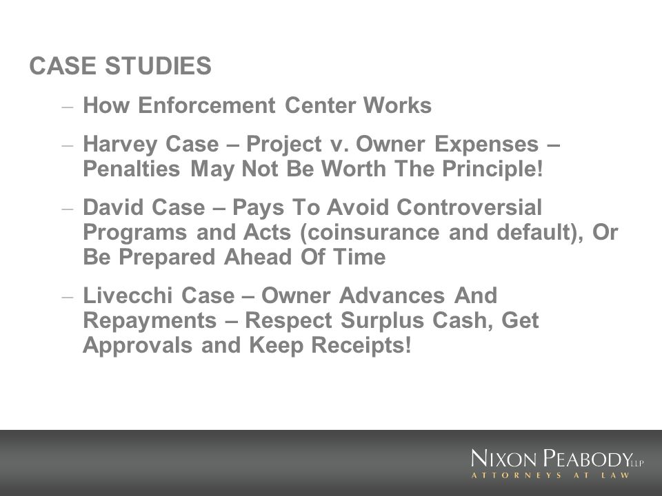 CASE STUDIES – How Enforcement Center Works – Harvey Case – Project v.