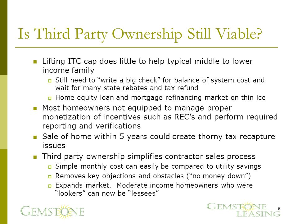Is Third Party Ownership Still Viable.