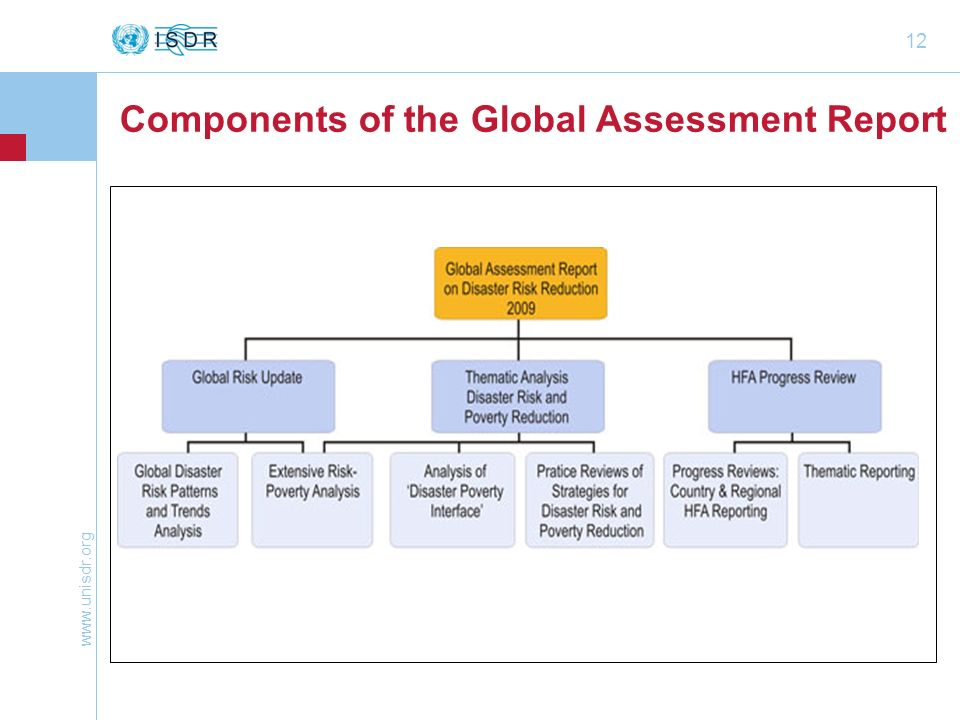 12 Components of the Global Assessment Report