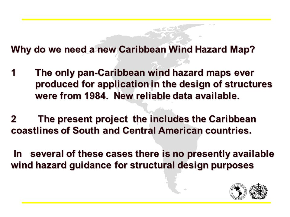 Why do we need a new Caribbean Wind Hazard Map.