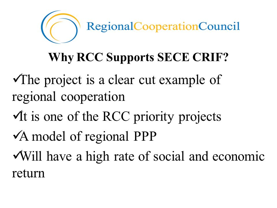 Why RCC Supports SECE CRIF.