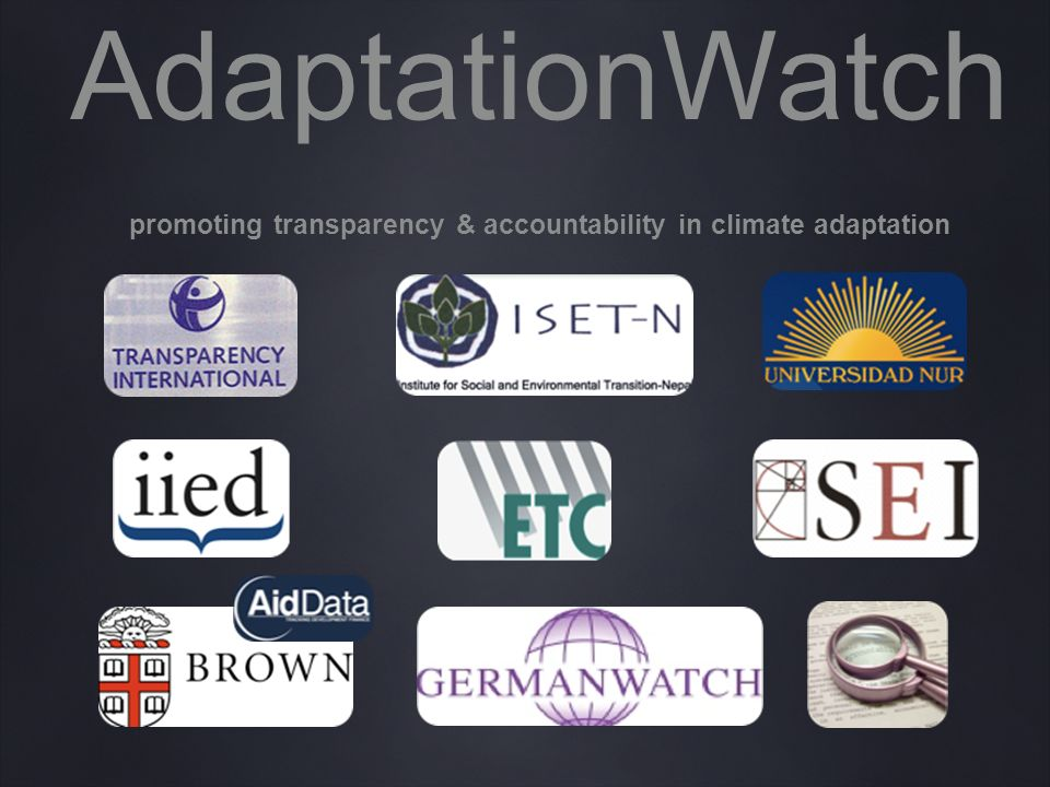 AdaptationWatch promoting transparency & accountability in climate adaptation