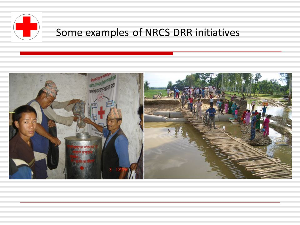 Some examples of NRCS DRR initiatives