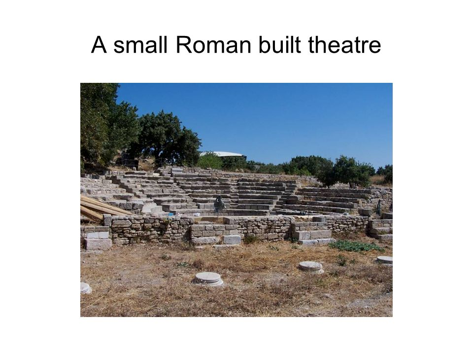 A small Roman built theatre