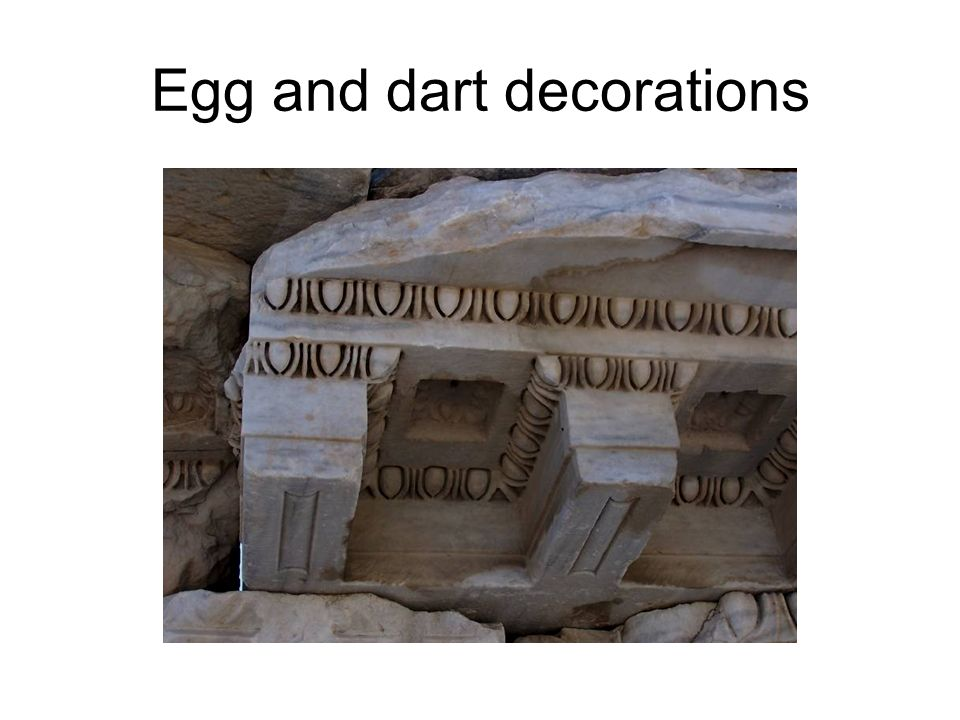 Egg and dart decorations
