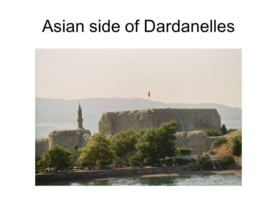 Asian side of Dardanelles