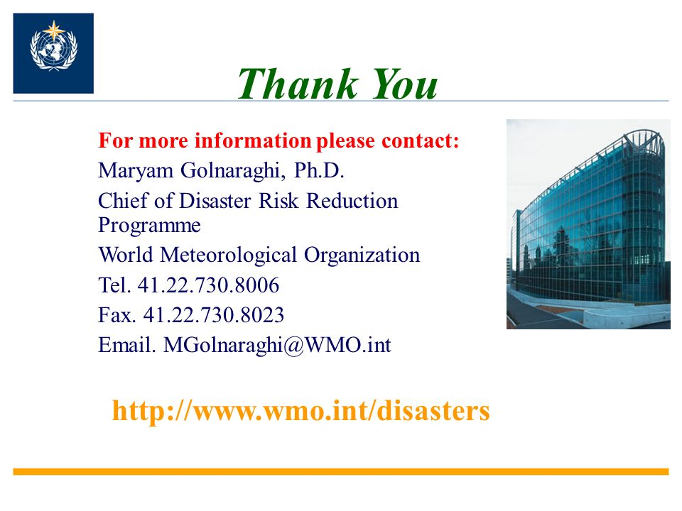 For more information please contact: Maryam Golnaraghi, Ph.D.