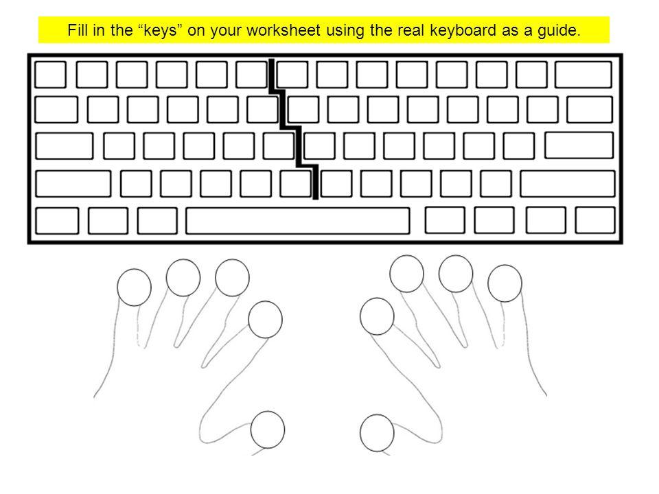 Keyboard Worksheet - Checks Worksheet